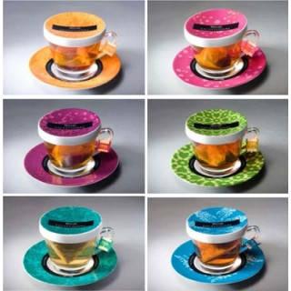 Exceptional set 6 tazas tapa t dilmah for Taza con tapa